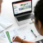 Civil engineer planning a dam
